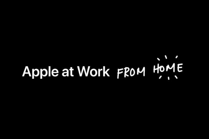 苹果发布最新视频:在家中工作很难也很有趣