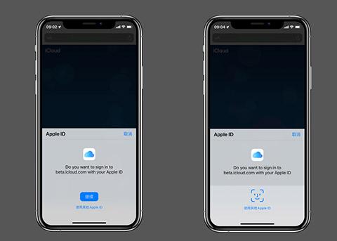 iOS13开始测试FaceID或TouchID登录网页版iCloud
