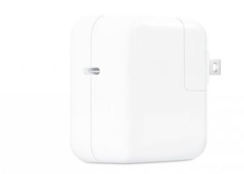 苹果发布新版30W USB-C电源适配器