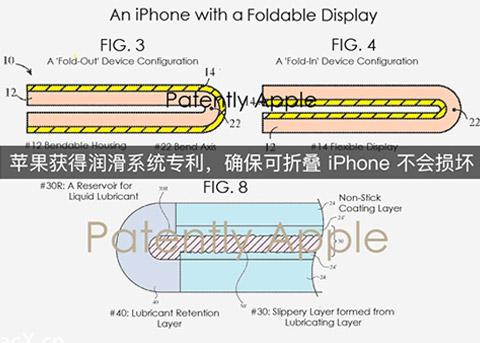 苹果获得润滑系统专利,确保可折叠iPhone不会损坏