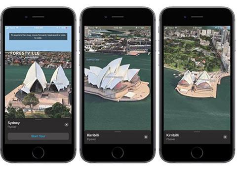 iOS11 beta2地图应用超酷的现实增强模式