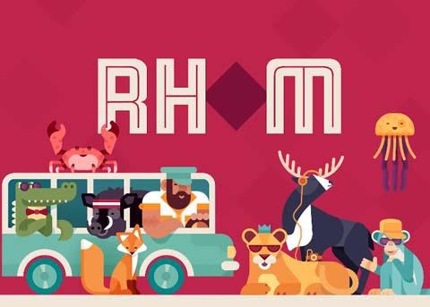 清新消除拼字游戏《Rhom Bus》2月23日上架!