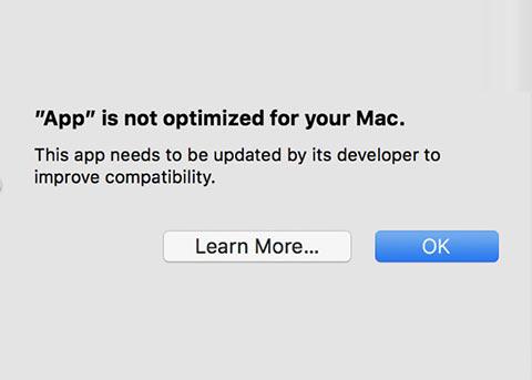 macOS 10.13.4开始提醒用户 32位应用即将淘汰