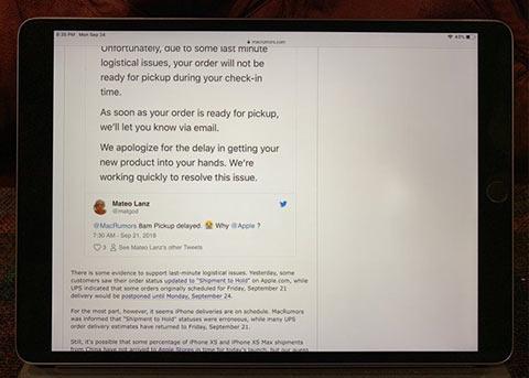部分2017款iPad Pro屏幕出问题 Home键上方有亮点