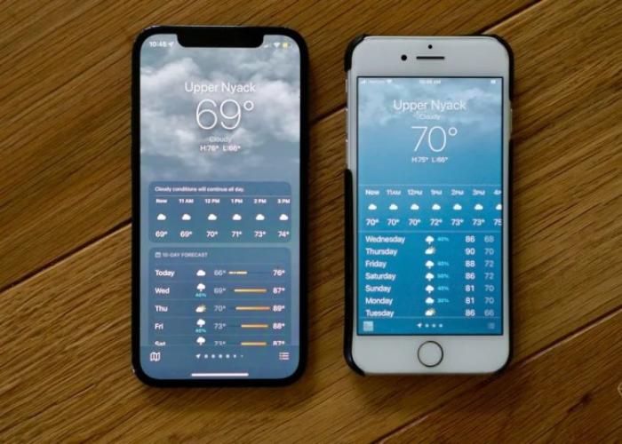 """iOS几个版本内置天气应用:无法显示""""69""""这个数字"""