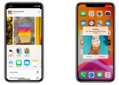 未来iPhone之间的AirDrop可能使用激光快速传输大文件