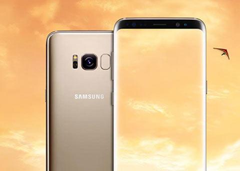 三星Galaxy S8金色款首曝光:依然黑色前面板
