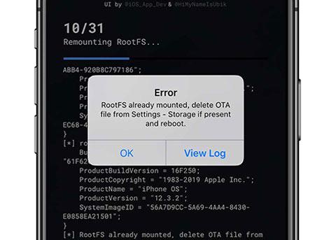 iOS12越狱工具unc0ver显示RootFS already mounted错误,如何解决?