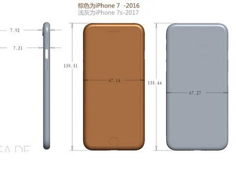 iPhone7S具体尺寸曝光 突出摄像头不再明显