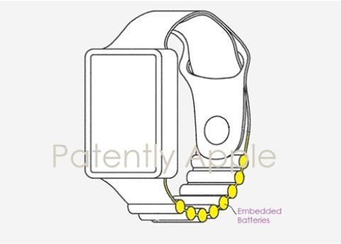 告别续航恐惧症:苹果Apple Watch电池表带专利曝光