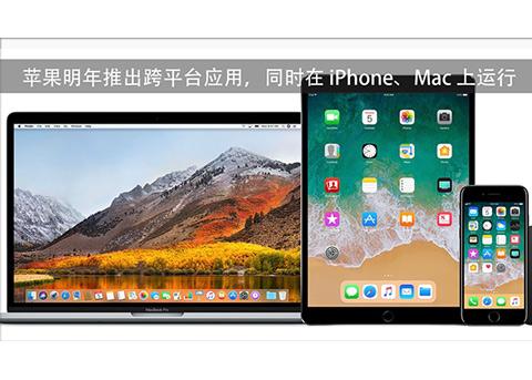 苹果明年推出跨平台应用,同时在iPhone/Mac上运行