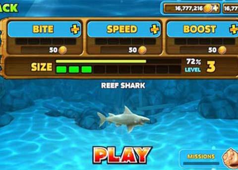 饥饿鲨进化修改版下载:可拥有无限金币和无限宝石