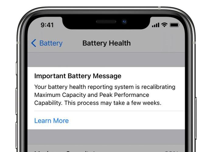 iOS 14.5 新功能:全新电池校准工具