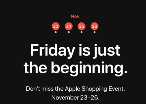 迎接黑色星期五:苹果要促销进行四天特卖会