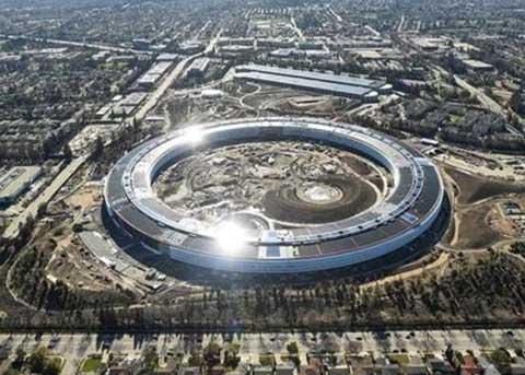 苹果新基地苹果公园(Apple Park)犹如巨型飞船 一睹为快