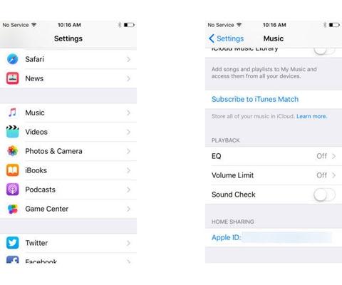 """如何打开iOS9 beta4""""家庭共享""""功能?"""