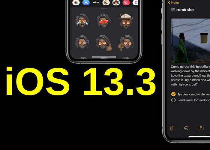 运营商文件确认iOS 13.3正式版将于本周发布