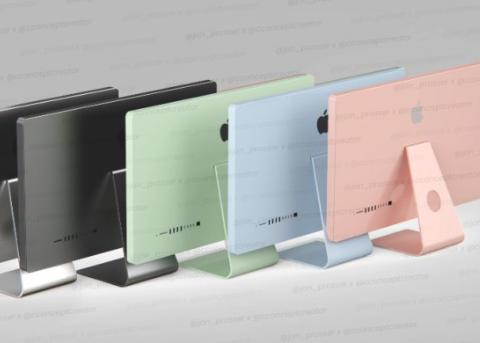 传2021年款M1 iMac将进行重新设计 有多种颜色选择