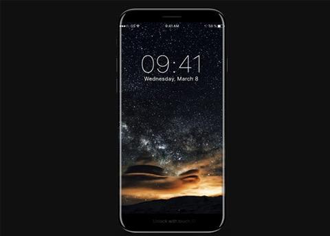 iPhone8概念设计 设计师喜欢屏幕有功能栏
