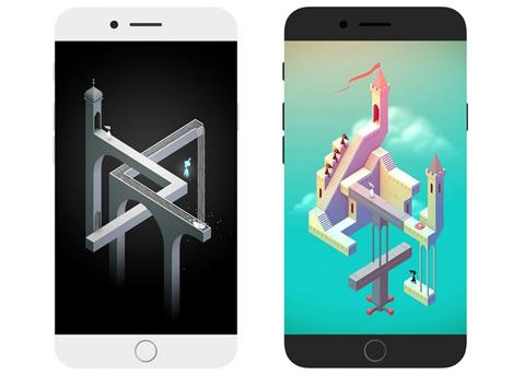 曲面屏iPhone8概念设计: 两种Home键方案