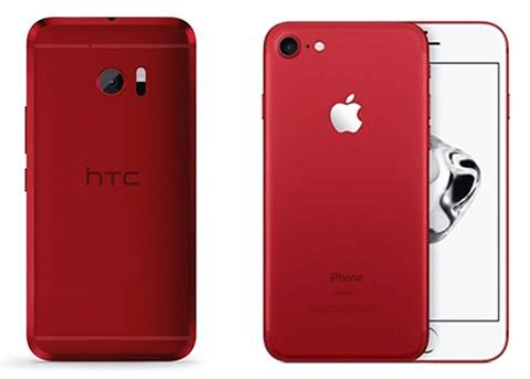 苹果红色iPhone 7/7 Plus被指抄袭HTC One