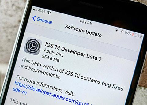 苹果紧急撤下iOS12 beta 7 因存在app启动缓慢等问题