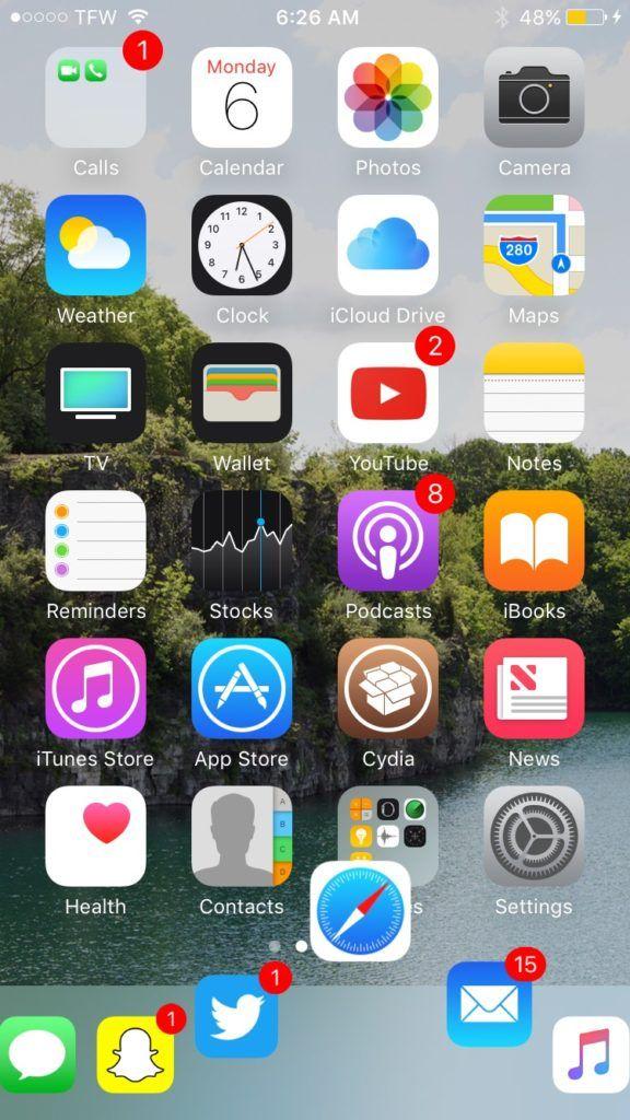 iOS10越狱插件:给iPhone换个macOS风格的dock如何