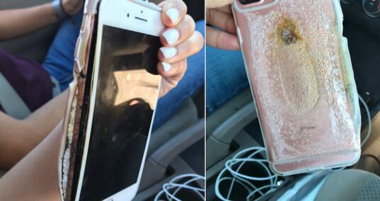 好在有男友 不然怎么拍自燃视频 iPhone7 Plus自燃事件