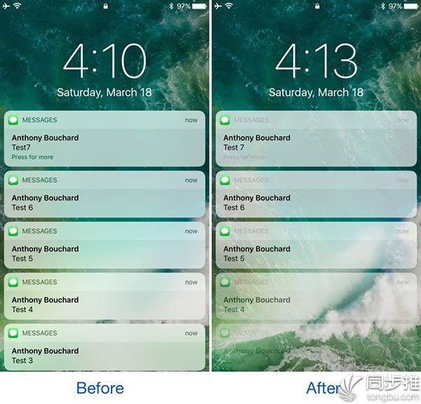 iOS10插件推荐:Defluxit为锁屏上的通知添加渐变效果