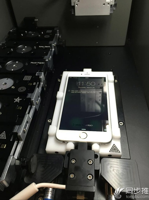 原来苹果零售店就是用这个机器来维修iPhone的