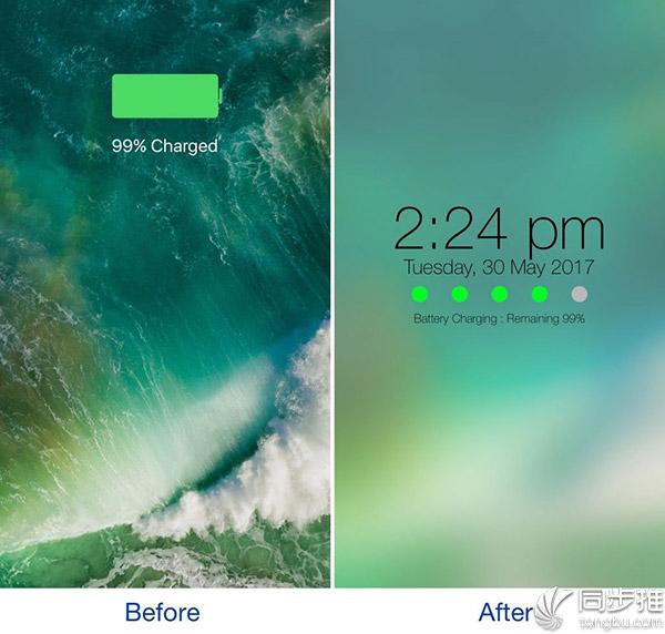 iOS10插件推荐:可让锁屏充电界面变得与众不同