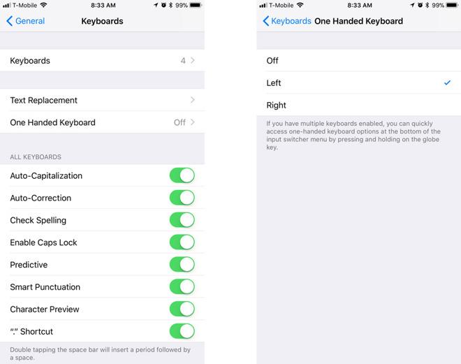 iOS11小技巧:大屏手机如何使用单手键盘