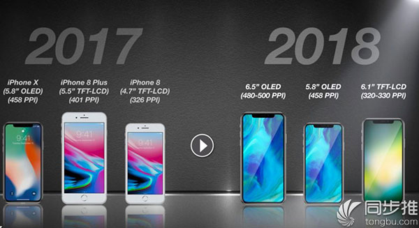 iPhone8s或继续沿用LCD屏幕,但设计将追随iPhone X