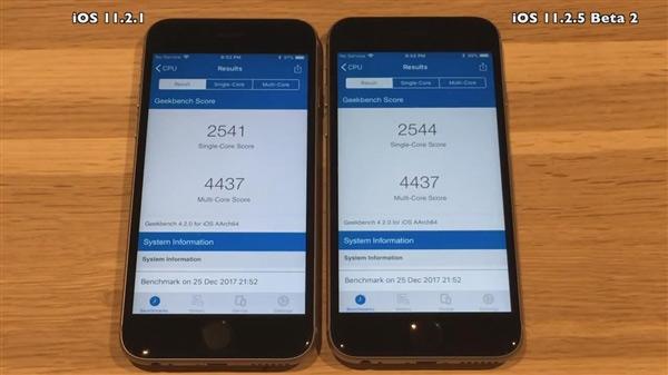 iOS11.2.5系统测试:速度更快 续航更佳