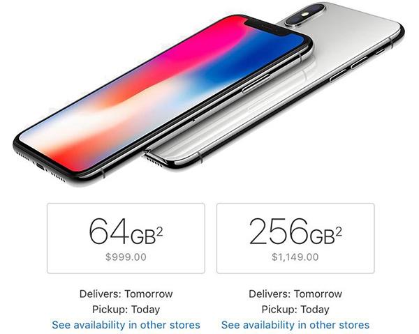 抢占圣诞市场:iPhone X多地开启次日送达