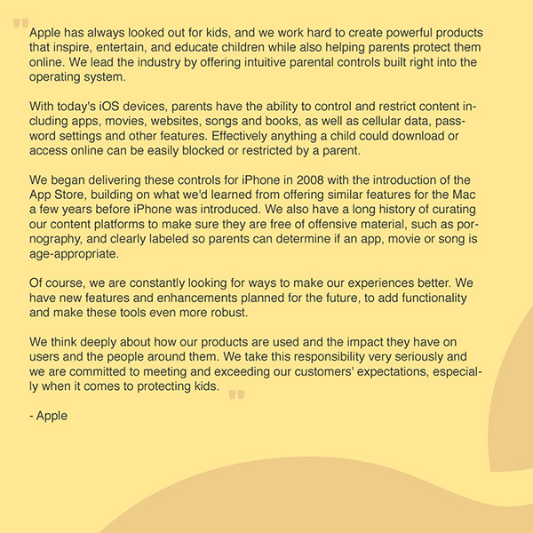 苹果将开发家长控制工具 解决儿童手机上瘾问题