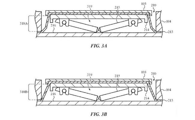 苹果新专利:防止异物进入MacBook键盘