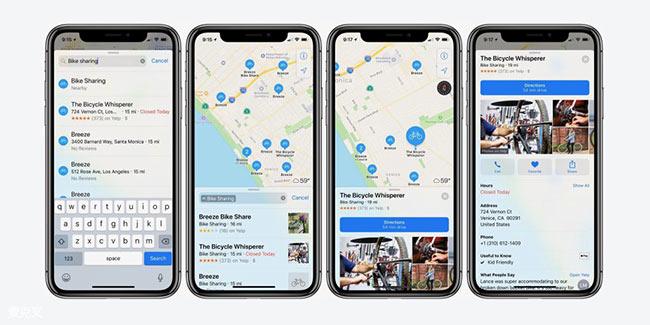 苹果地图加入179个城市共享单车 暂无中国
