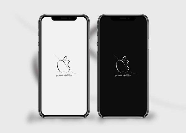 一笔勾勒出的苹果 logo 非常耐看,很适合拿来做壁纸.图片
