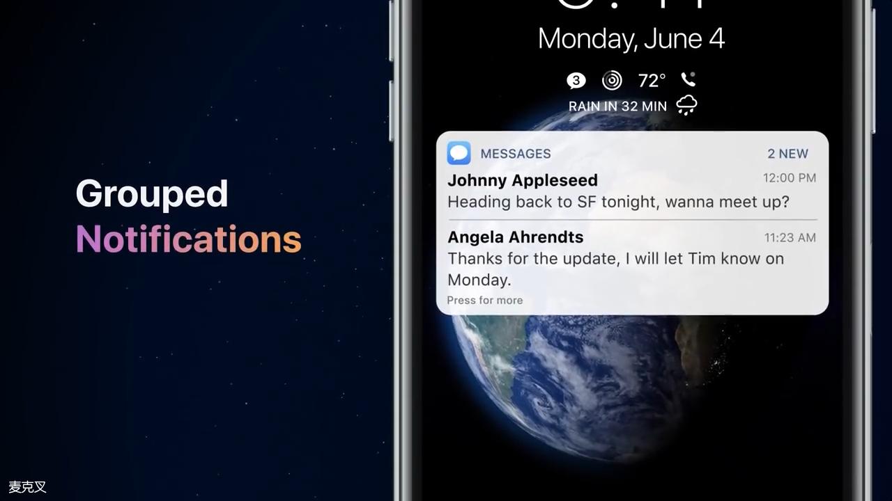 iOS12概念设计:黑暗模式+模块化锁屏界面