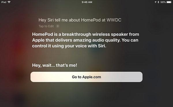 Siri暗示苹果WWDC2018将推出新款HomePod?
