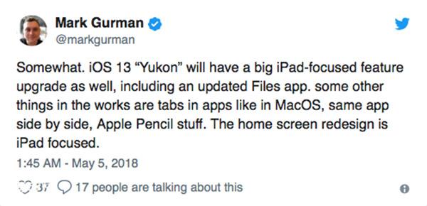 值得期待!iOS13将为iPad带来多个重大升级