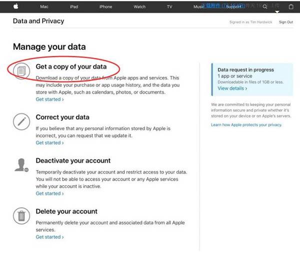 苹果上线新网站,可删除Apple ID和下载数据