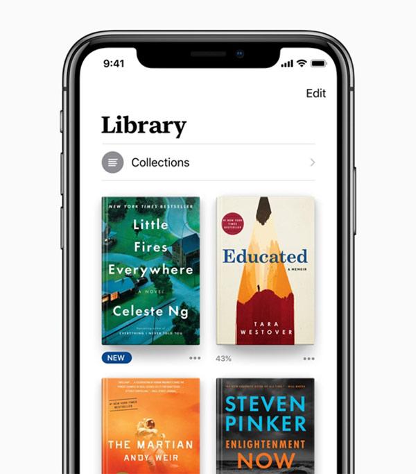 苹果宣布iOS12中Books应用:全新设计更简洁