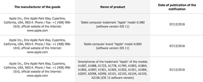 今年会有几款:苹果又注册两款新iPad型号