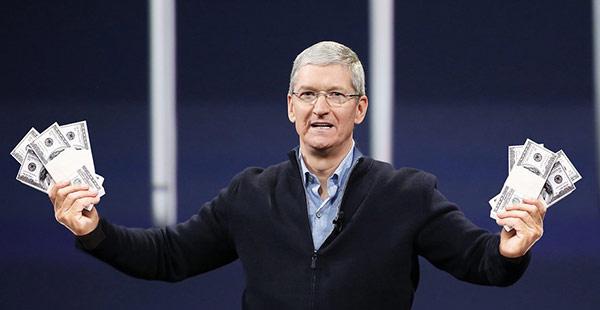 库克抛售苹果股票,套现5780万美元