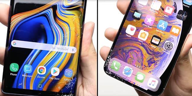 最新跌落测试:iPhone XS输给了三星Note 9