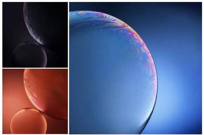 iPhone Xs/XR原生壁纸下载:不是星球是气泡