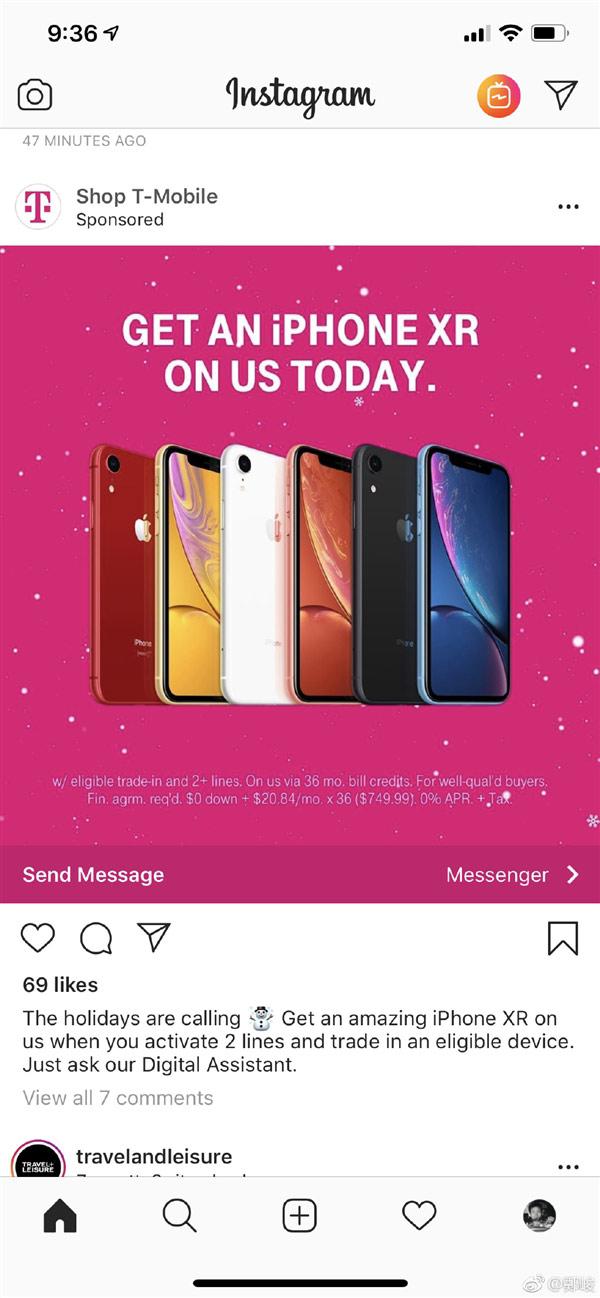 美国T-Mobile上线优惠:iPhone 6s可免费换XR