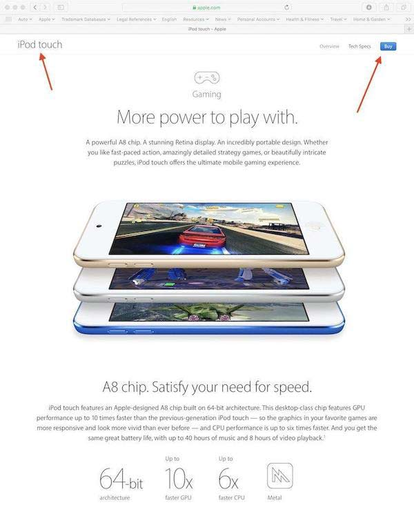 苹果扩展iPod Touch商标 范围扩至游戏设备
